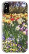 Tulips At Dallas Arboretum V33 IPhone Case