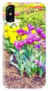 Tulips At Dallas Arboretum V65 IPhone Case