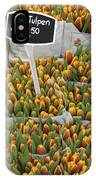 Tulips For Sale In Market, Close Up IPhone Case