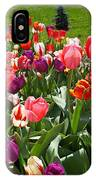 Tulips Garden Art Prints Colorful Spring Floral IPhone Case