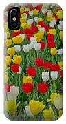Tulips In A Field IPhone Case