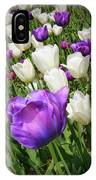 Tulips In Purple And White IPhone Case
