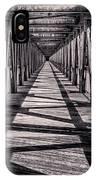Tulsa Pedestrian Bridge In Black And White IPhone Case