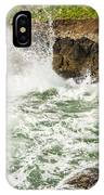 Turbulent Devils Churn - Oregon Coast IPhone Case