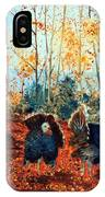 Turkey Dance On The Pond Road IPhone Case