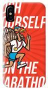 Turkey Run Marathon Runner Poster IPhone Case