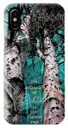 Turquois Trees  IPhone Case