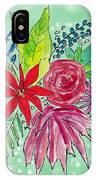 Turquoise Flower Bouquet IPhone Case