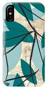 Turquoise Leaves IPhone Case
