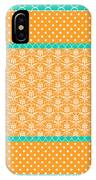 Turquoise Pumpkin Abstract IPhone Case