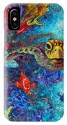 Turtle Wall 2 IPhone Case by Ashley Kujan