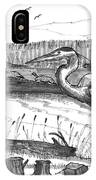Turtles And Heron IPhone Case