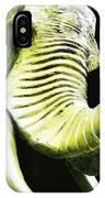 Tusk 1 - Dramatic Elephant Head Shot Art IPhone Case