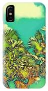 Twin Palms With Aqua Sky - Horizontal IPhone Case