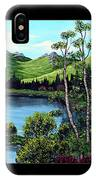 Twin Ponds And 23 Psalm On Black Horizontal IPhone Case