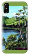 Twin Ponds And 23 Psalm On Green Horizontal IPhone Case