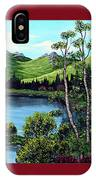 Twin Ponds And 23 Psalm On Red Horizontal  IPhone Case