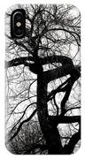 Twisted Tree In Black And White IPhone Case