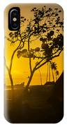 Two Boys Silhouette In Spectacular Golden Sunset  IPhone Case