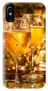 Two Champagne Glasses Ready To Bring In The New Year IPhone Case