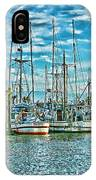 Two Fishing Boats Hdr IPhone Case