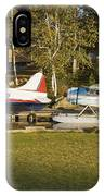 Two Float Planes On Moosehead Lake Near Greenville Maine  IPhone Case