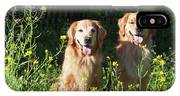 Two Golden Retrievers Sitting Together IPhone X Case