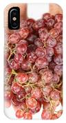 Two Handfuls Of Red Grapes IPhone Case
