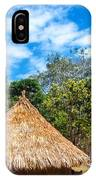 Two Indigenous Huts IPhone Case