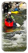 Two Kayakers On A Whitewater Course IPhone Case