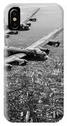 Two Lancasters Over London Black And White Version IPhone Case