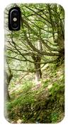 two little brothers Chasing Fairies in theBeech Forest on a summer day IPhone Case