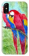 Two Macaws IPhone Case