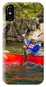 Two Men In A Tandem Canoe IPhone Case
