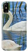 Two Mute Swans IPhone Case