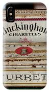 Two Old Cigarette Boxes IPhone Case