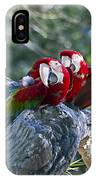 Two On A Branch Two IPhone Case