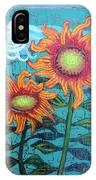 Two Orange Sunflowers IPhone Case