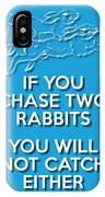 Two Rabbits Blue IPhone Case