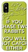Two Rabbits Green IPhone Case