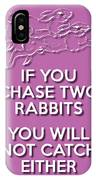 Two Rabbits Violet IPhone Case