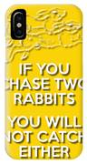 Two Rabbits Yellow IPhone Case