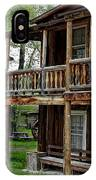 Two Story Outhouse - Nevada City Montana IPhone Case