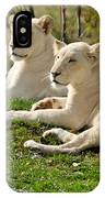 Two White Lions IPhone Case