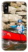 Two Women Paddling A Whitewater Canoe IPhone Case