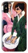 Two Women With A Washbasin IPhone Case