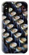 Typewriter Keys IPhone Case
