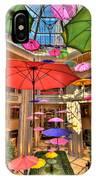 Umbrellas At Palazzo Shops IPhone Case