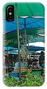 Umbrellas In The Marketplace In Tachilek-burma IPhone Case