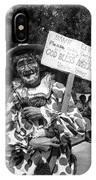Uncle Harry Clown Drive Carefully  God Bless America Sign Tucson Arizona 1991 IPhone Case